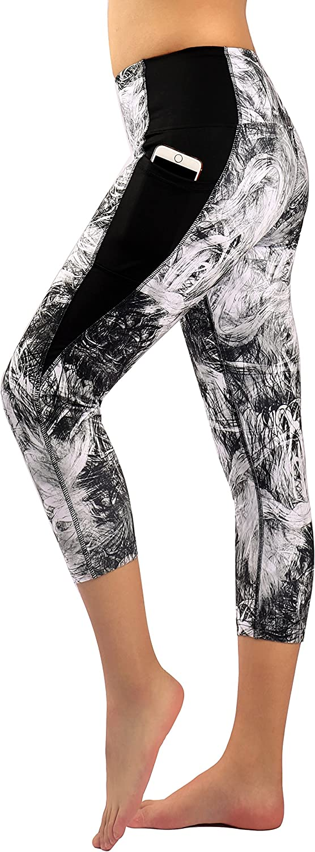Zinmore Women's Capri Yoga Pants Exercise Running Workout Leggings with Pockets
