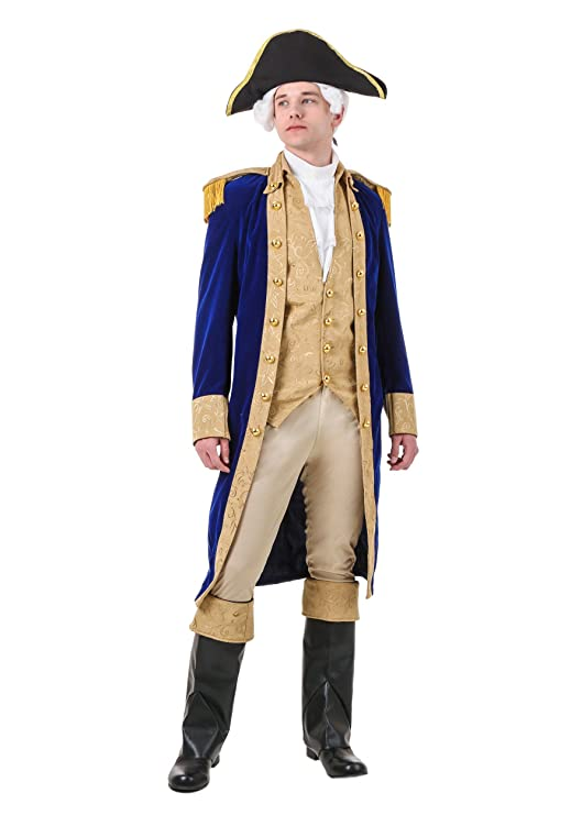 Adult George Washington Costume Medium Blue