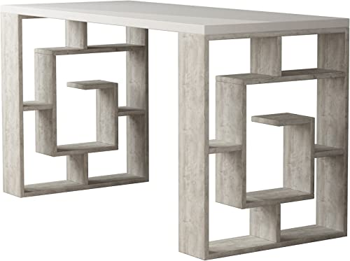 Ada Home D cor Briscoe Desk, 55 x 30 x 24 , White Ivory