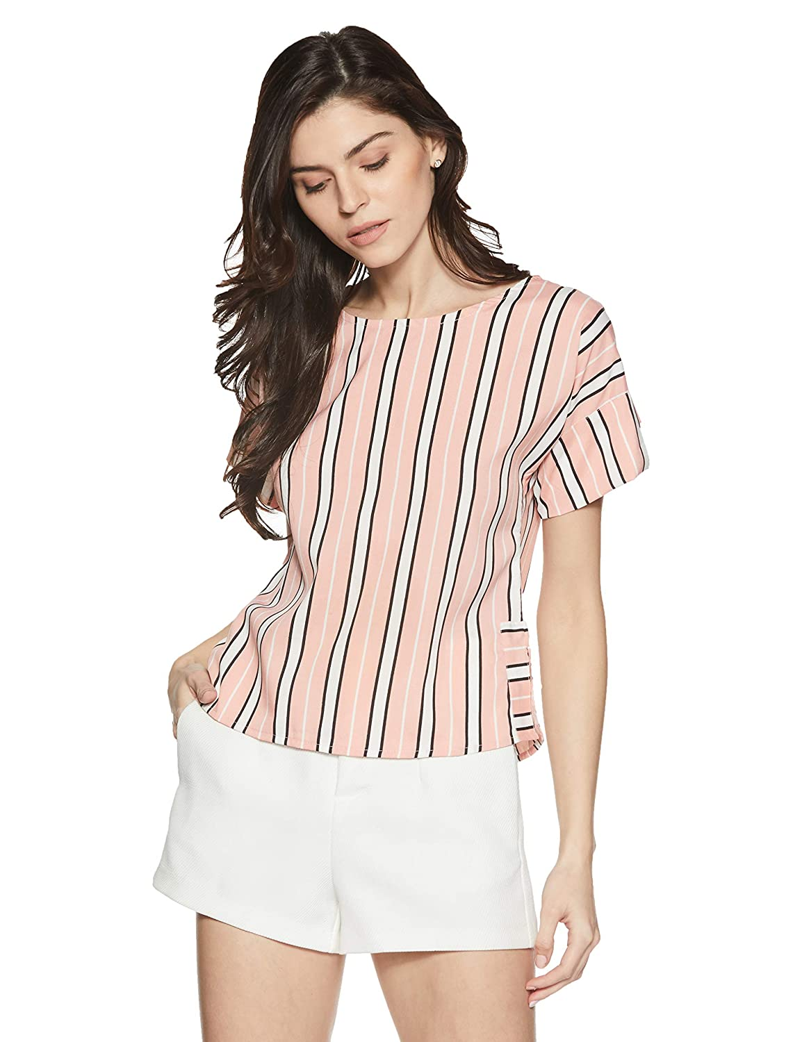 Stalk Buy Love Women's Crepe Striped Lucille Top