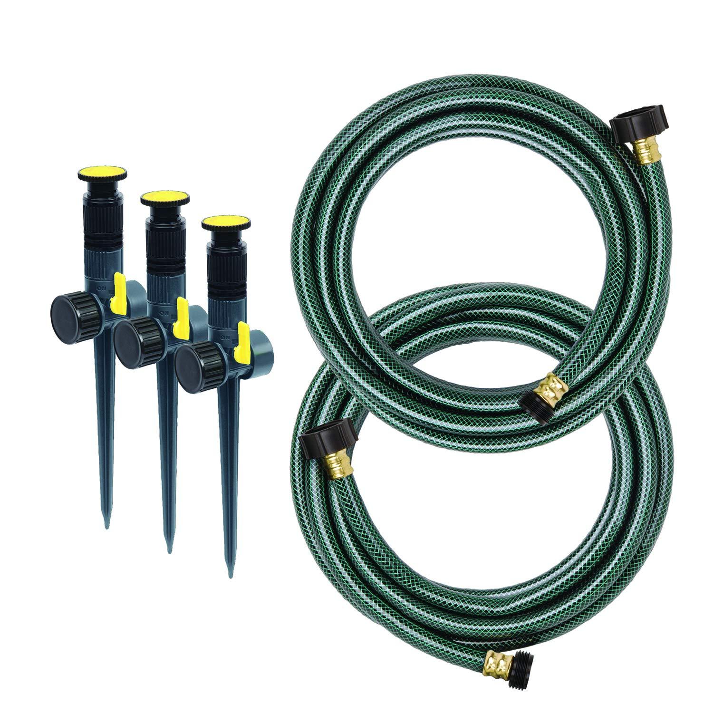 Melnor 95548-IN Multi-Adjustable Garden Above GroundSprinkler System, Watering Set