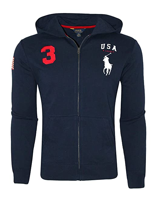 0876a648845 Polo Ralph Lauren Youth Kids Boys Sweatshirt Full Zip Hoodie Big Pony (S 8
