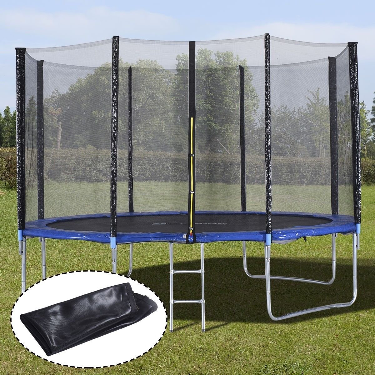 12FT Trampoline Combo Bounce Jump Enclosure Safety Net W/Spring Pad Ladder ,#G14E6GE4R-GE 4-TEW6W288932 by Tinflyphy (Image #1)
