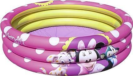 Piscina Hinchable Infantil Bestway Minnie Mouse Ø102x25 cm: Amazon ...