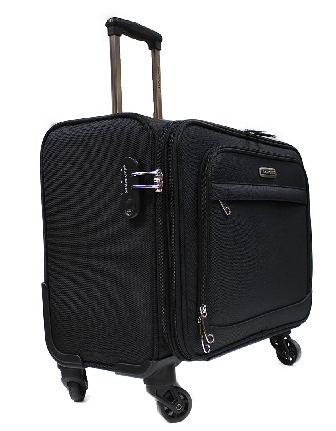 4 wheel laptop cabin hand luggage pilot case trolley business travel bag