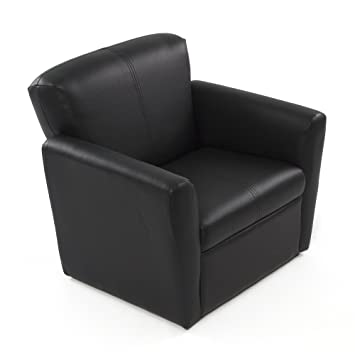 Kids Armchair Black | Faux Leather | Childrenu0027s Armchair For Boys And Girls  | Toddler Couch