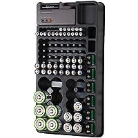 tka Köbele Akkutechnik Batterietester: 2in1-Batterie-Organizer für 98 Batterien, mit Batterie-Tester (Batterie Aufbewahrung)