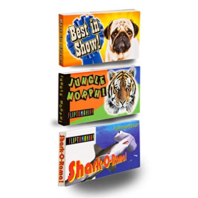 Fliptomania Wild and Wacky Animal Flipbooks 3 Pack: Toys & Games