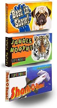 Fliptomania Salvaje y Raro Animal Flipbook 3-Pack: Amazon.es ...