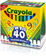 Crayola 58-7858 Ultra-Clean Washable Broad Line Markers, 40-Count