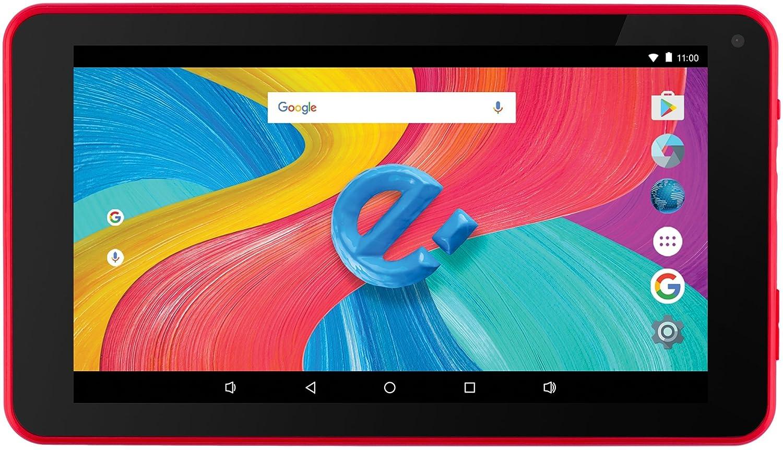 Tablet de Pulgadas IPS HD,PC Portátil para Viajes, Estudios, Oficinas, Juegos (WiFi,Bluetooth, Cámara Dual de)(Rojo) Gran autonomía barata Roja Todo de Rojo