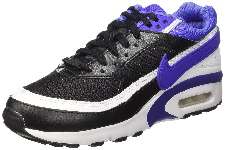 NIKE Air Max BW Boy's Running Shoes B01AYAK88E 5 M US Big Kid|Black/White//Persian Violet
