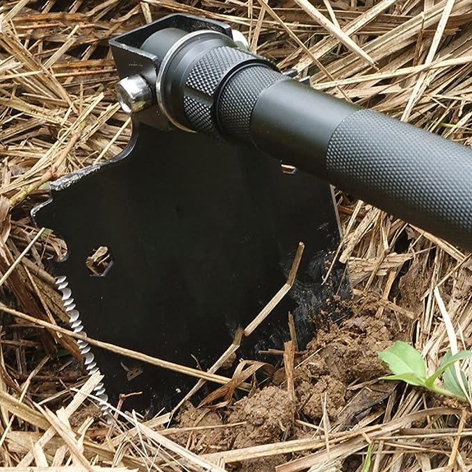 LQQAZY Al Aire Libre Pala De Ingeniería Multifunción Pala Pala De Bing Acero De Manganeso Pala Plegable Pala: Amazon.es: Jardín