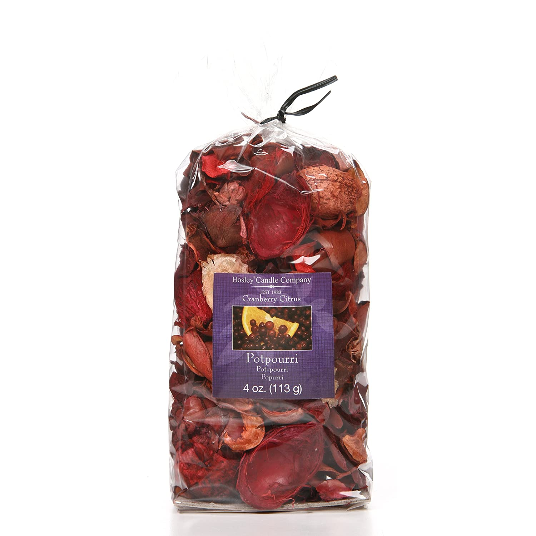 Hosley 4 Ounce Cranberry Citrus Potpourri Bag Ideal Gift for Aromatherapy Zen Spa Vastu Reiki Chakra Votive Candle Garden Settings O9