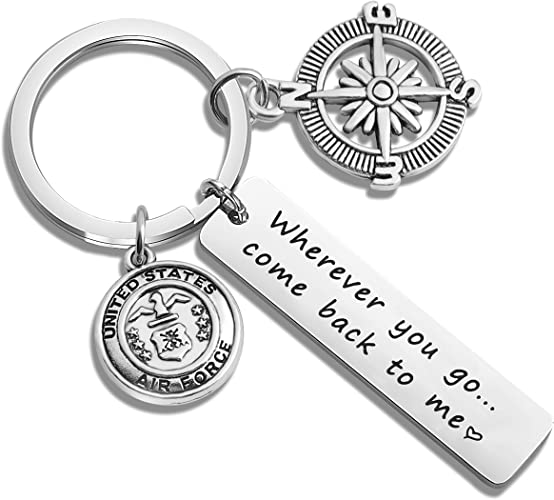 To My Boyfriend I Love You For All Keychain Circular Customized Stainless Steel Birthday Graduation Anniversary Military Gift
