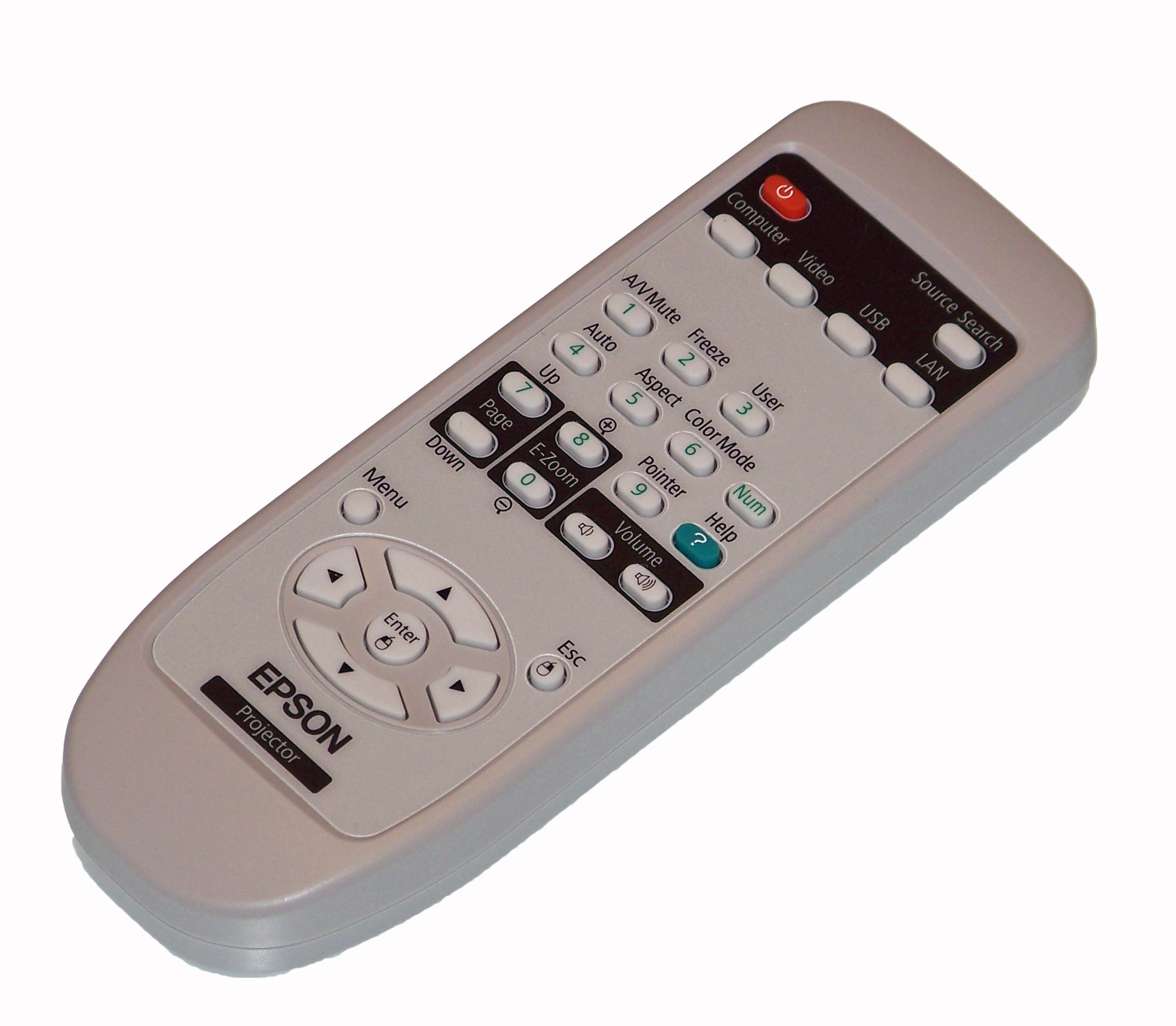 OEM Epson Projector Remote Control Shipped With Epson Models H357A, H381A, H382A, H383A