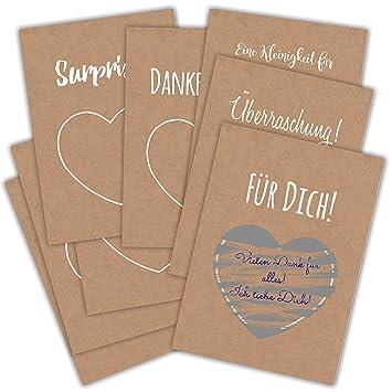 Tarjeta de cupones 8 x DIN A6 rubbel tarjeta regalo tarjeta ...