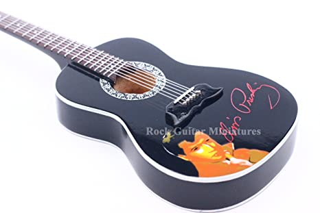 RGM77 Elvis Presley guitarra acústica Mini guitarra en miniatura en caja de la guitarra de Rock