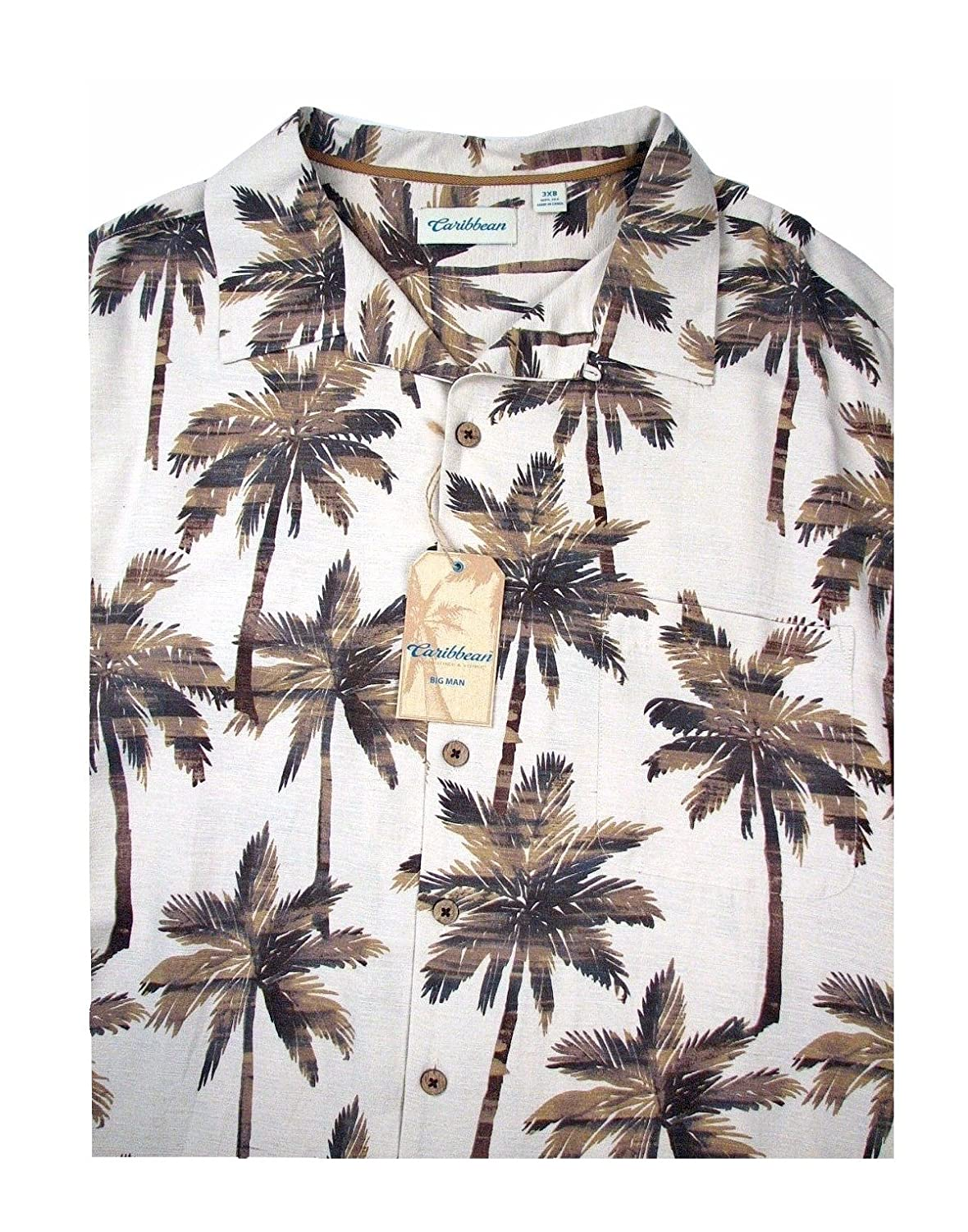 22412220 Caribbean Big and Tall Men's Hawaiian Shirt at Amazon Men's Clothing store: