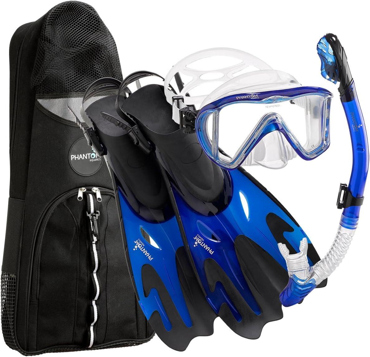Phantom Aquatics Legendary Mask Fin Snorkel Set with Mesh Bag