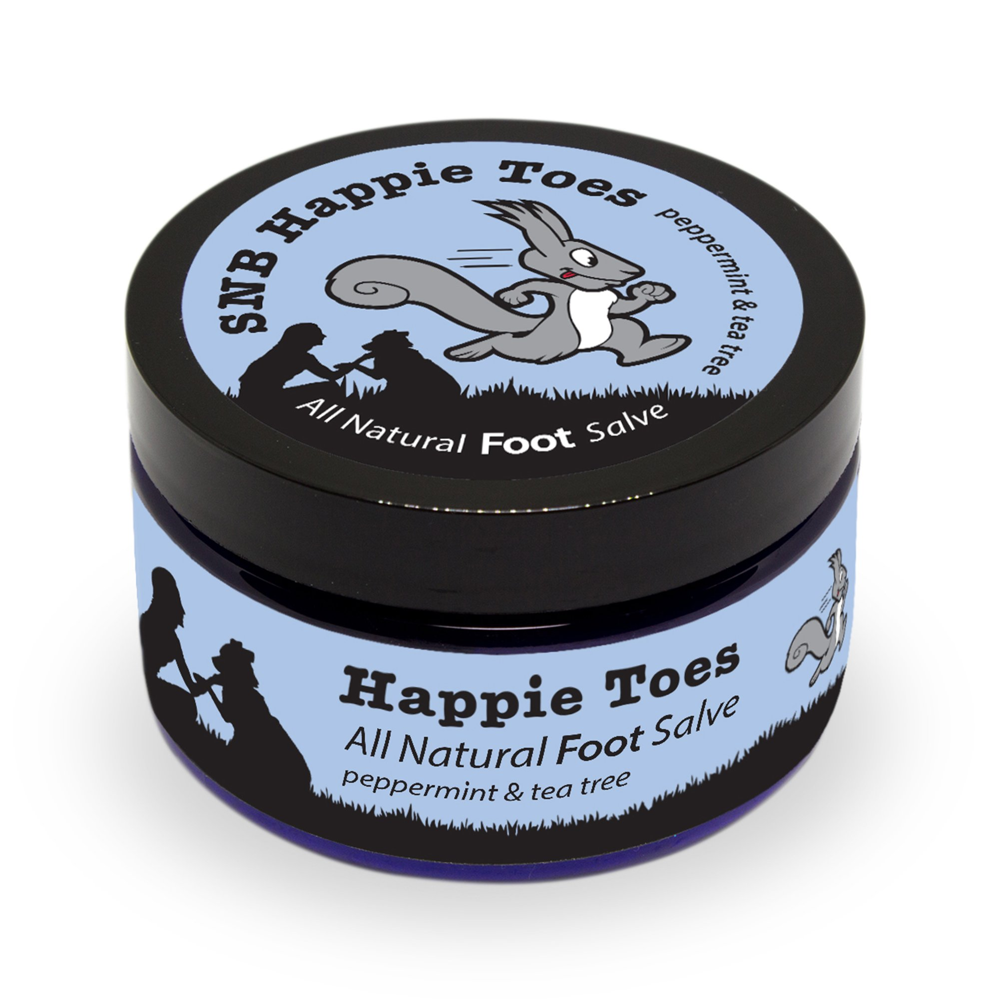 Squirrel's Nut Butter Happy Toes All Natural Foot Salve, Tub, 4.0 oz, Peppermint & Tea Tree by Squirrel's Nut Butter (Image #2)
