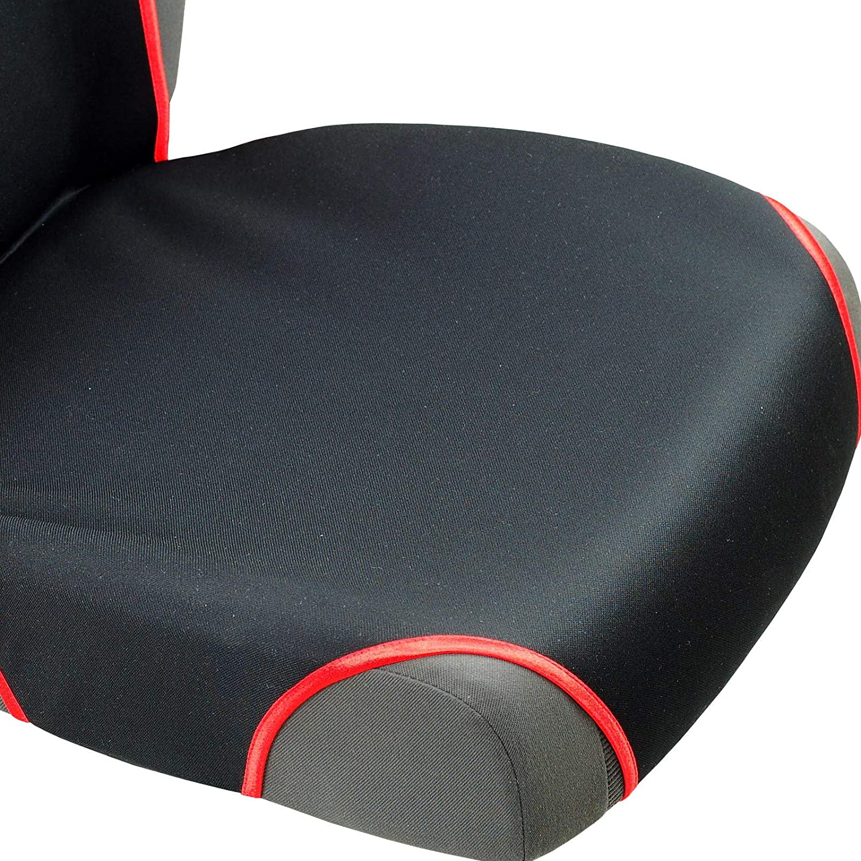 Color Premium Negro y Rojo Zakschneider Fundas De Asiento para Samurai Fundas Delanteras