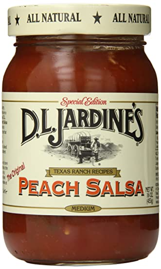 D.L. Jardines Peach Salsa, Medium, 16 Ounce