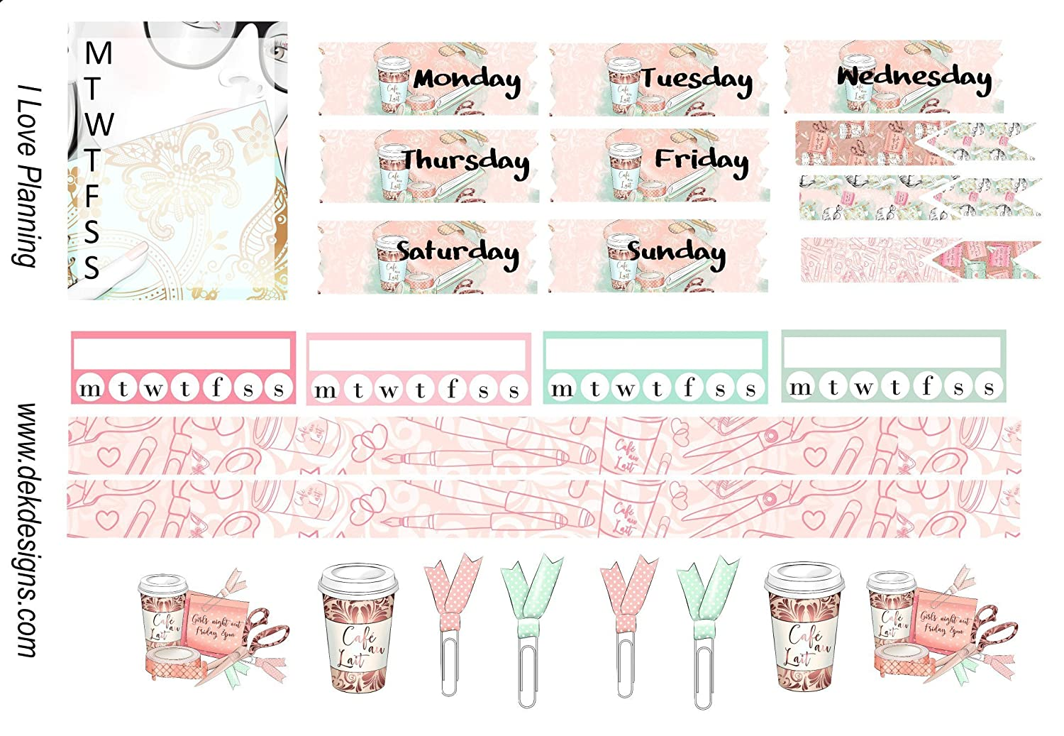 All Hallows HORIZONTAL Weekly Kit  130 Matte Planner Stickers  Perfect for your Erin Condren Life Planner  WKH0340