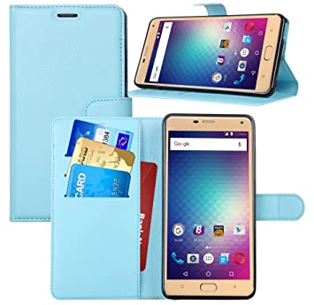 Elephone S7 carcasa funda / caso, KuGi ® Elephone S7 caso - Caso Monedero pata de cabra de alta calidad PU cuero for Elephone S7 smartphone.(Azul)