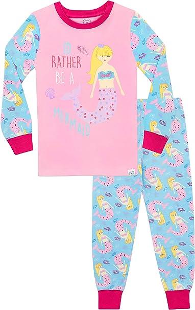 Harry Bear Girls Mermaid Pyjamas Snuggle Fit