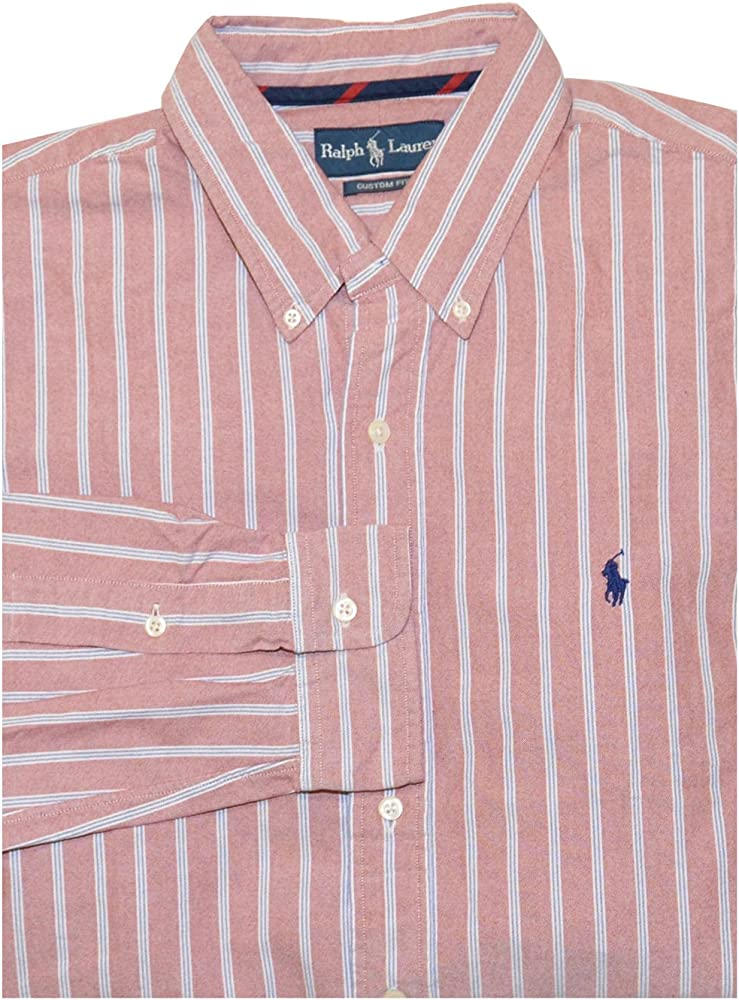 Polo Ralph Lauren para hombre Button Down camisa Oxford rayas: Amazon.es: Ropa y accesorios