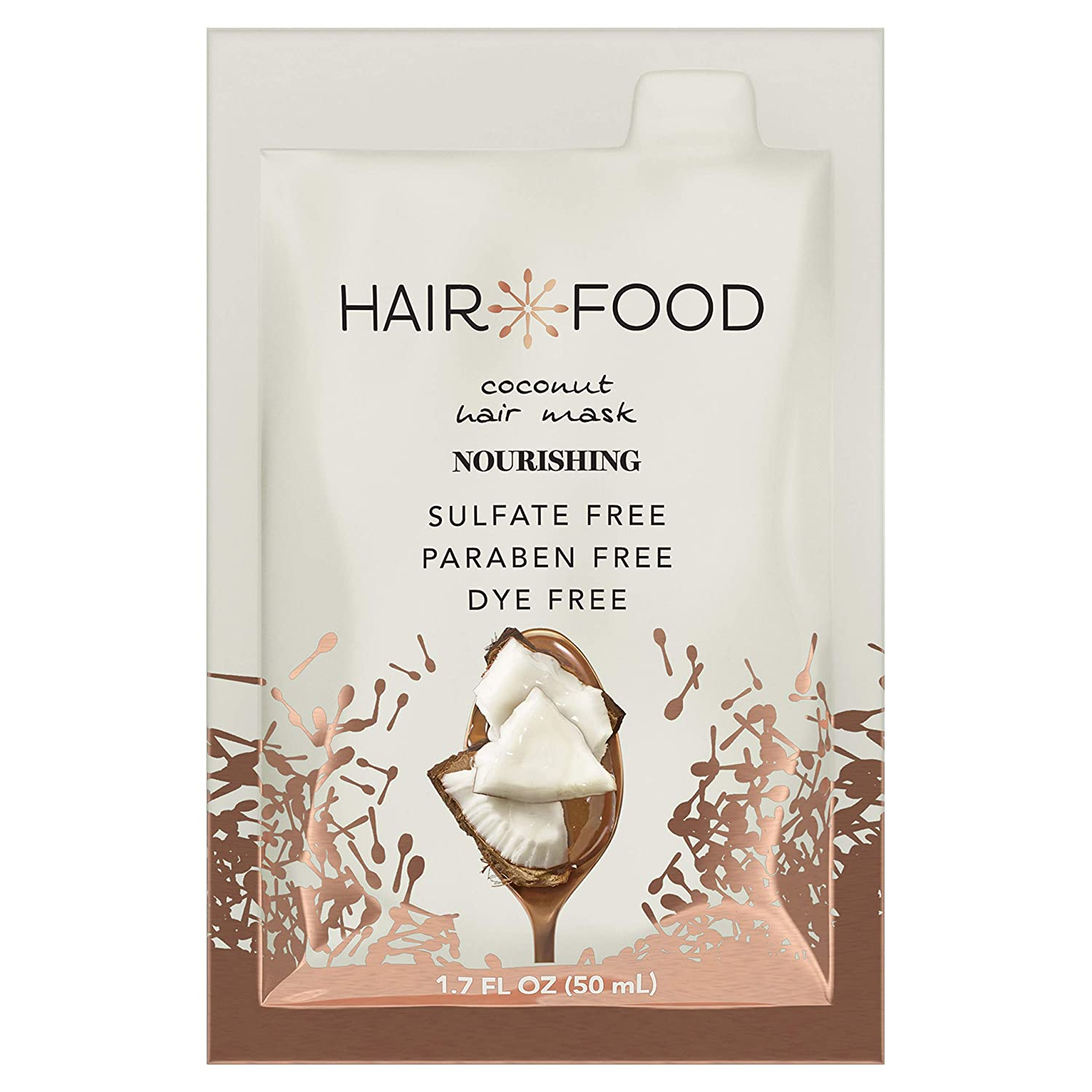 Hair Food Moisturizing Hair Mask for Curly Hair, Coconut, Paraben & Dye Free 1.7 fl oz, 10 Count