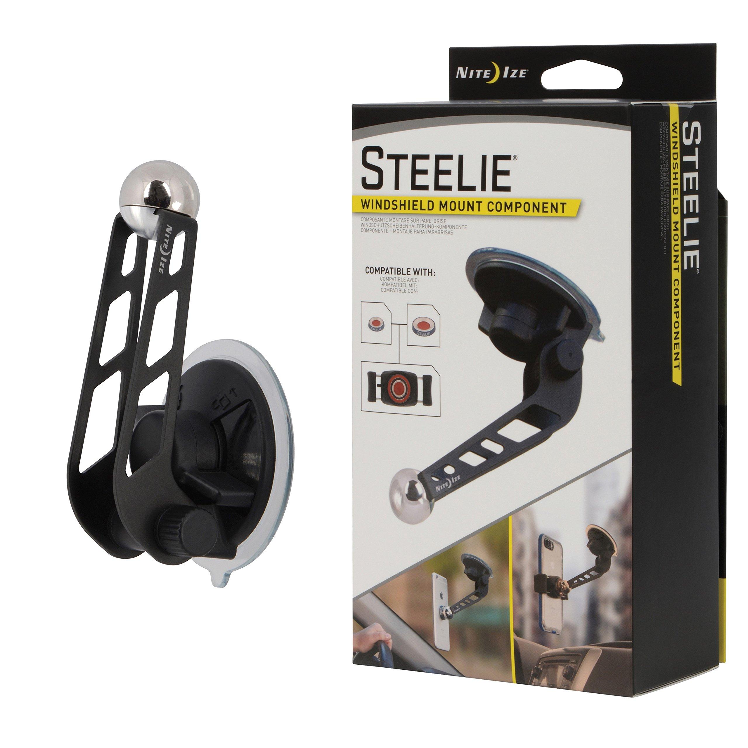 Nite Ize Original Steelie Windshield Mount - Additional Car Windshield Mount for Steelie Magnetic Mounting System