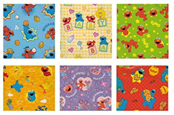 Sesame Street Elmo Birthday Gift Wrap Wrapping Paper For Boys Girls Kids 6