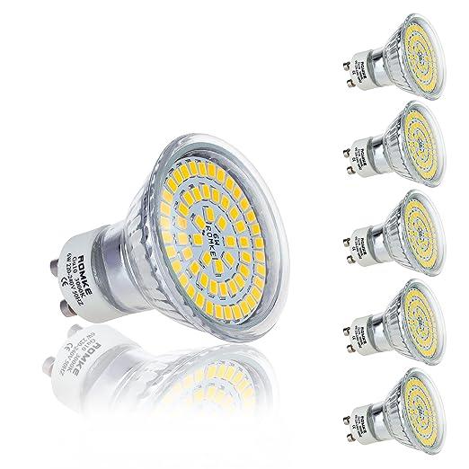 Bombillas LED GU10 Romke® de 6W, equivalentes a bombillas halógenas