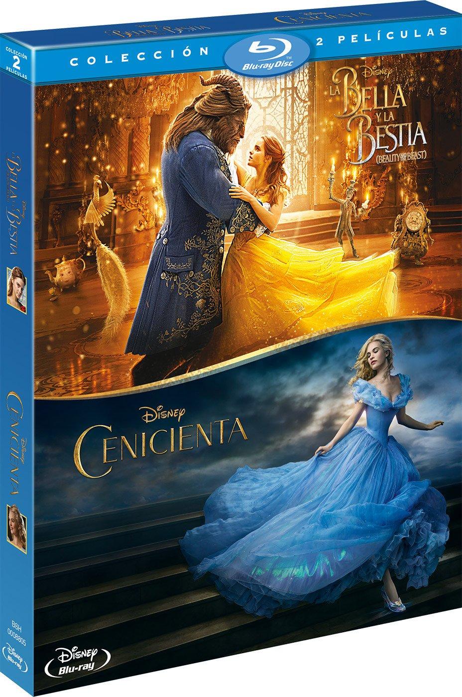 Pack: Cenicienta Imagen Real + La Bella Y La Bestia Beauty & The Beast Blu- ray: Amazon.es: Varios, Varios, Varios: Cine y Series TV