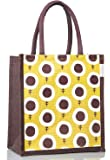 H&B Lunch Bags - Jute Bags | Jute Bags for Lunch | Lunch Bags for Office | Lunch Box Bag | Tiffin Bags | Gift Bags | Lunch Bag for Men | Carry Bag | Bags for Men | Eco-Friendly Lunch Bags - Sunflower