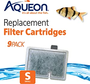 Aqueon Replacement Filter Cartridges QuietFlow (9 Pack), Small