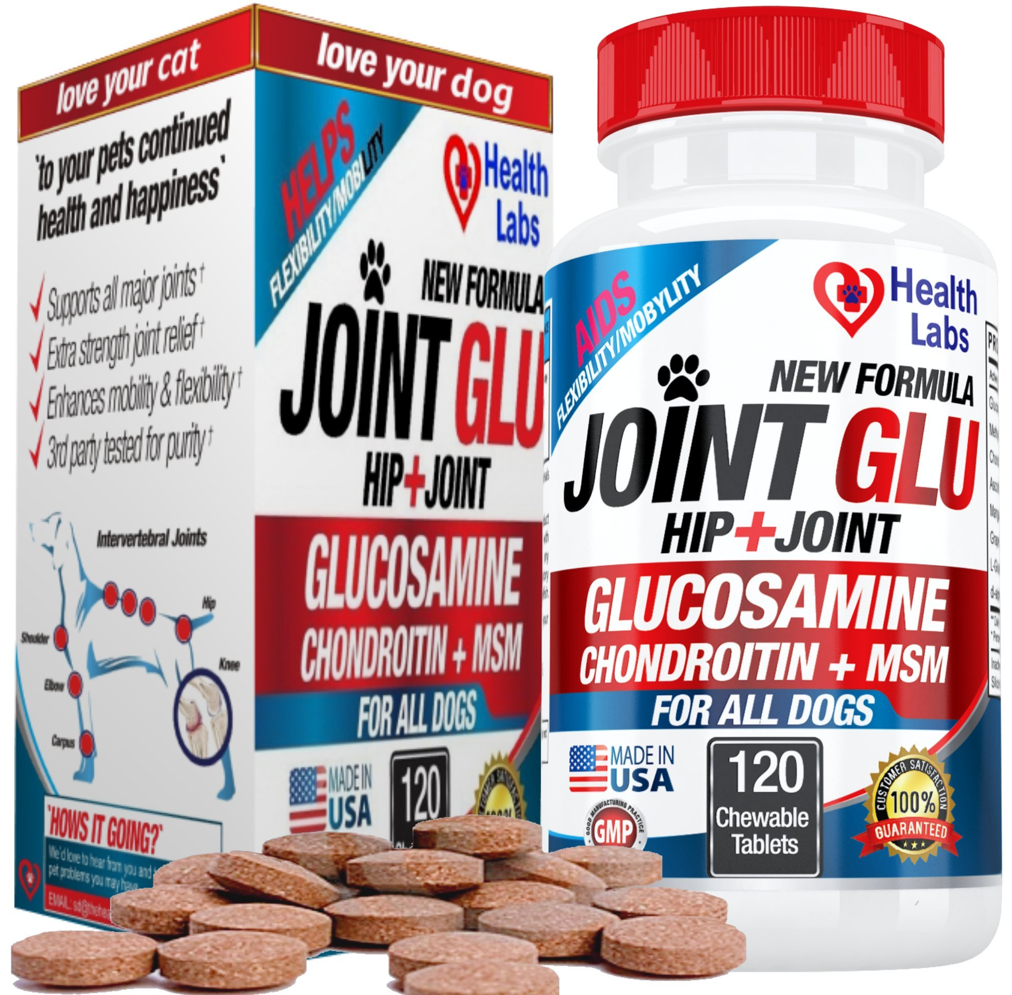 Brand New, Joint Glu For Your Dogs release Pain, Made in US