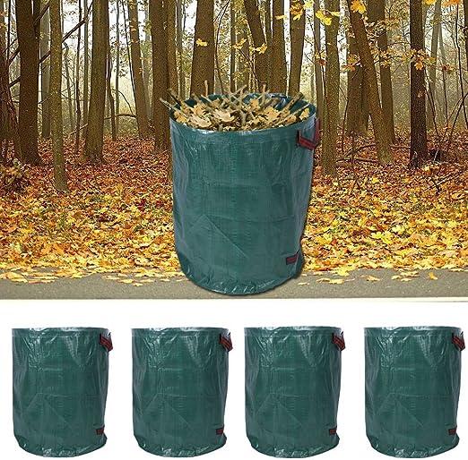Juego de 4 Saco de jardín Saco jardín Saco de basura basura basura (Saco 270L Saco: Amazon.es: Jardín