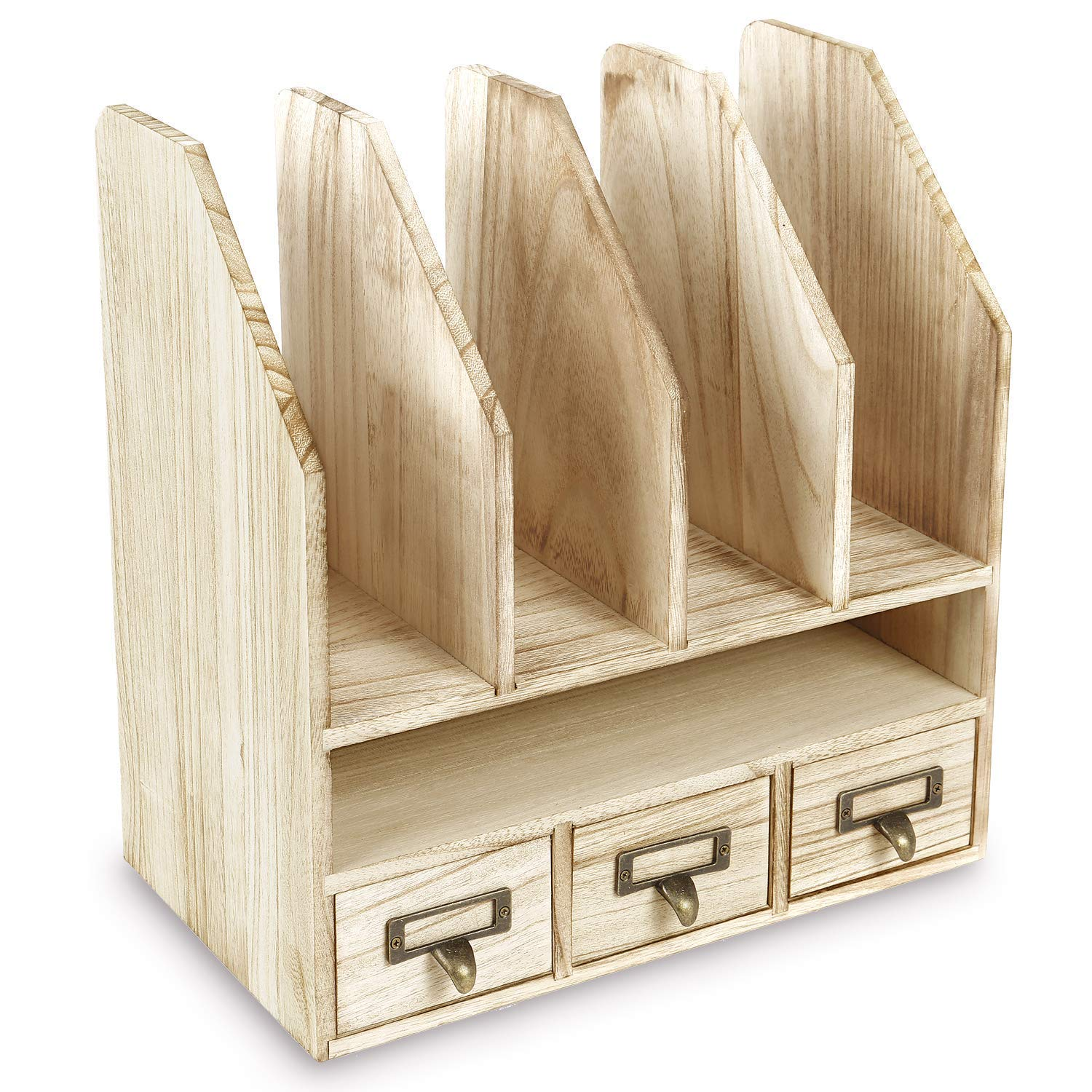 Wooden Desk Organizer File/Mail Sorter