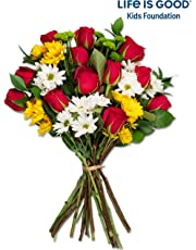 Benchmark Bouquets Life is Good Flowers Hot, Pink, No Vase (Fresh Cut Flowers)
