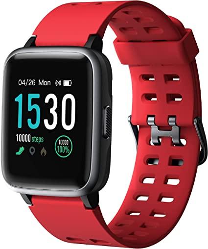 Arbily Smart Watch for Android Phone iPhone, Smartwatch with Heart Rate Monitor Waterproof Swimming Smart Watch with Sleep Tracker Pedometer Step ...