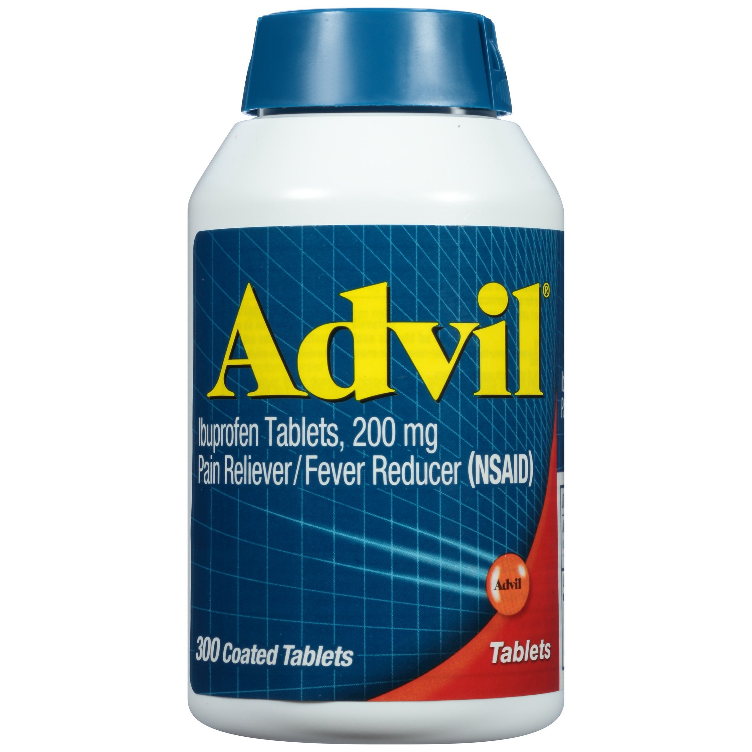 Advil (300 Count) Pain Reliever/Fever Reducer Coated Tablet, 200mg Ibuprofen, Temporary Pain Relief