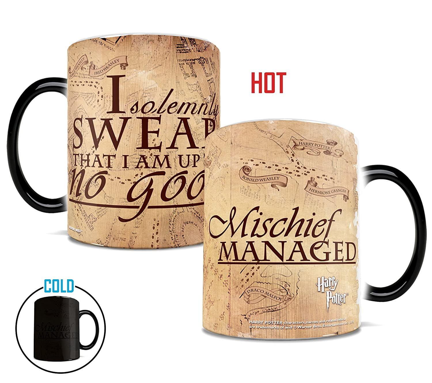 Amazoncom Morphing Mugs Harry Potter Hogwarts Magical Marauders - Parchment paper map of us