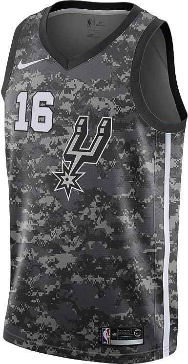 Deber depositar consola  Nike NBA San Antonio Spurs PAU Gasol 16 2017 2018 City Edition Jersey  Oficial, Camiseta de Hombre: Amazon.es: Ropa y accesorios