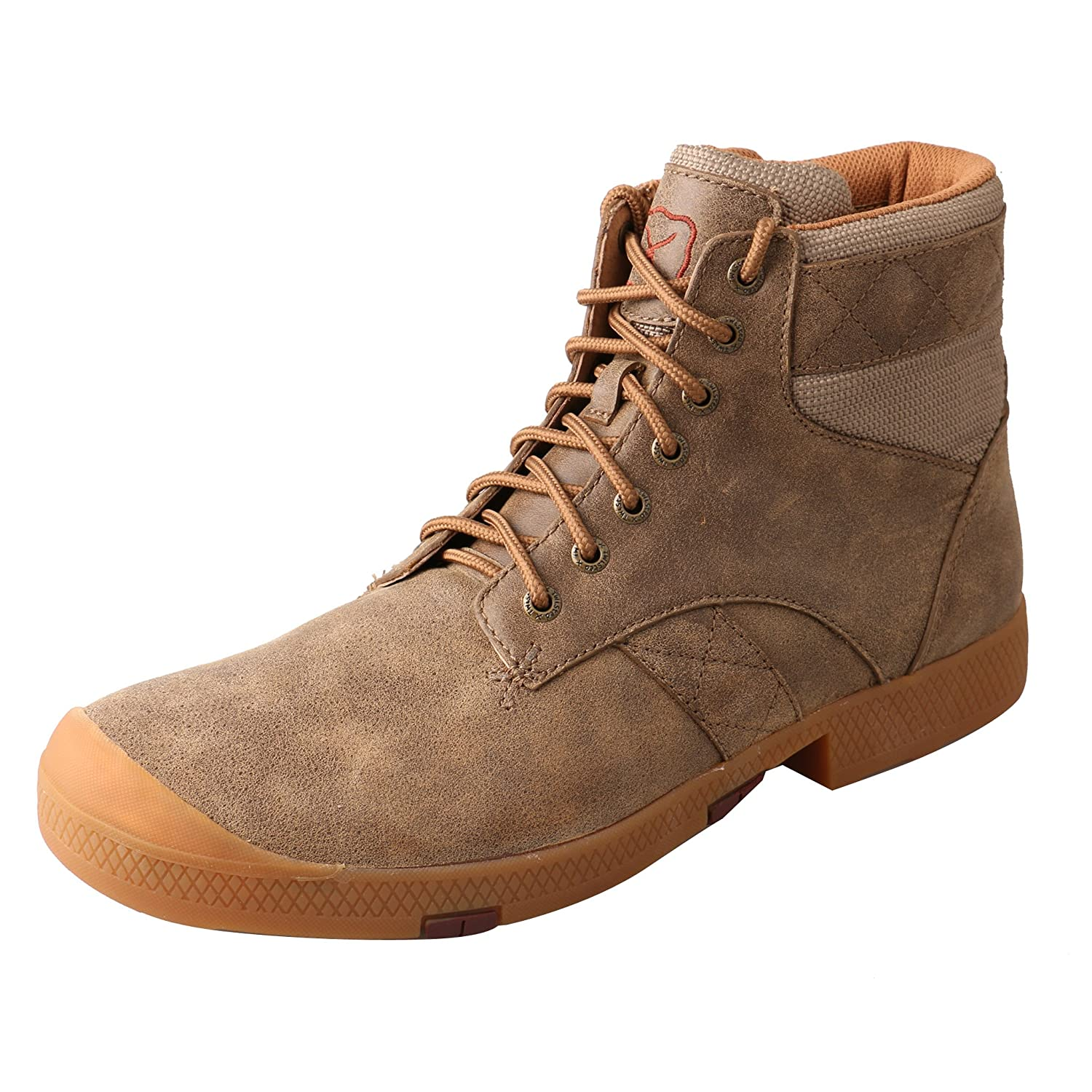 Amazon.com: Twisted X Mens Casual Lace-Up Boot Round Toe Bomber 7 EE US: Clothing
