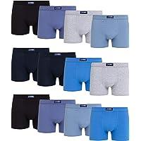 Channo Boxers de algodón clásicos de Colores Lisos, cómodos y Suaves. Pack de 12 Calzoncillos