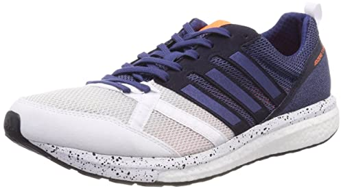 huge selection of 50e7e c0247 adidas Mens Adizero Tempo 9 Competition Running Shoes, White  (FtwwhtNobindCblack