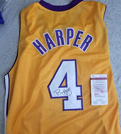 7fae665d495 Image Unavailable. Image not available for. Color  Rare Ron Harper Autographed  Signed Los Angeles Lakers Basketball Jersey COA Memorabilia JSA